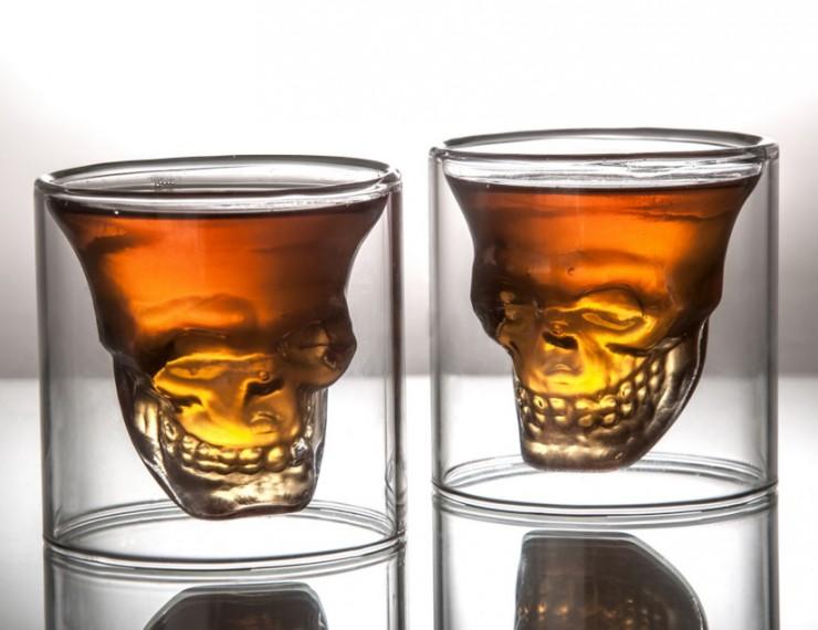 Fred Friends Doomed Crystal Skull Shot Glass