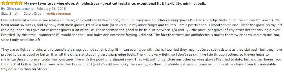 Cut Resistant Gloves Ratings