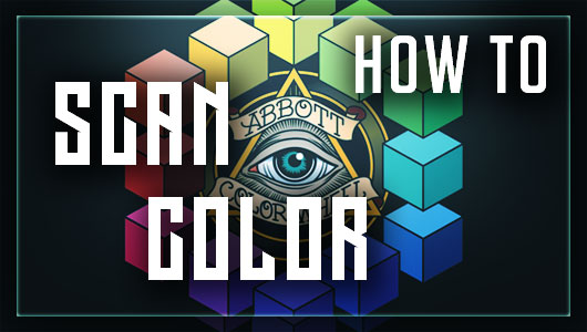 how to scan color